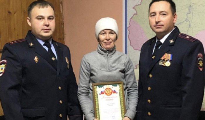 Полиция наградила жительницу Ербогачена, сообщившую окраже
