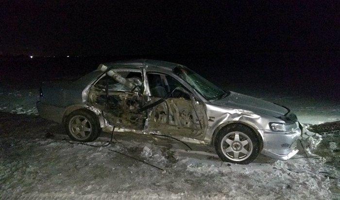 Четыре человека пострадали при столкновении автомобилей Isuzu иRenault вУсольском районе
