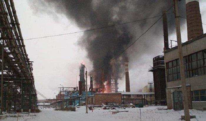 Четыре человека пострадали из-за возгорания назаводе вБашкирии (Видео)
