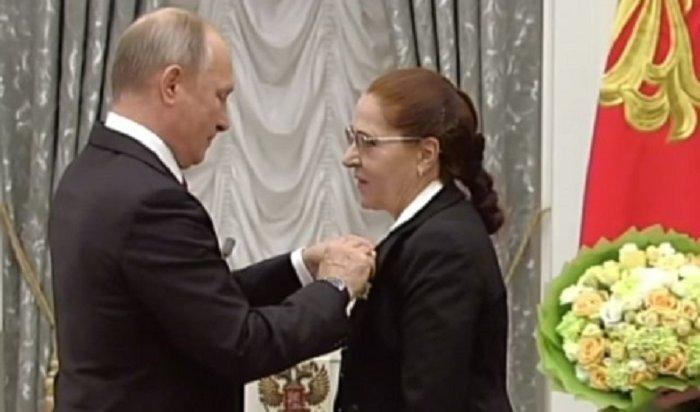 Путин наградил Орденом Дружбы почетного гражданина Иркутска Светлану Кулинич