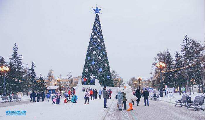 Главную елку откроют вИркутске 22декабря