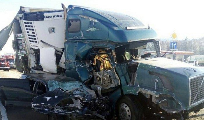 Водитель Toyota Fielder пострадал вовремя столкновения двух фур вБайкальске