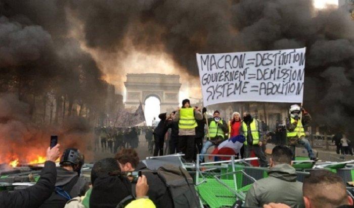 Франция заявила, что Россия виновата вакциях протеста встране