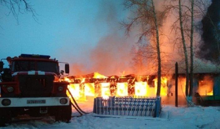 Еще одна школа сгорела вЗиминском районе (Видео)