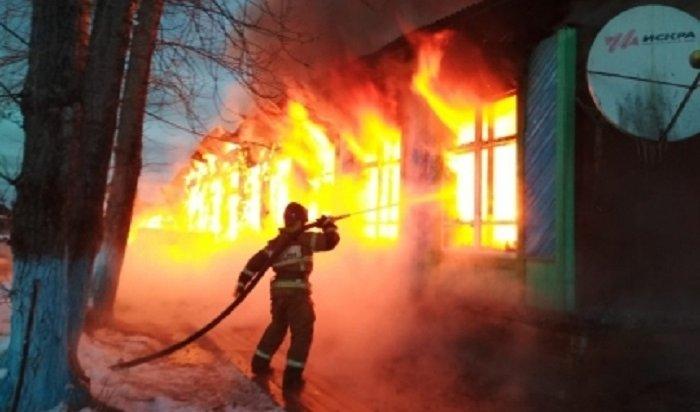 МЧС: Школа вЗиминском районе сгорела поэлектротехнической причине