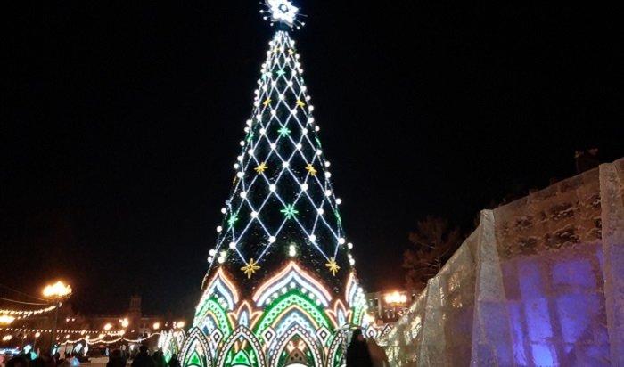 Более 5000иркутян приняли участие воткрытии главной городской елки