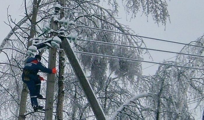 Электричество вХомутово иКуде появится к18:00