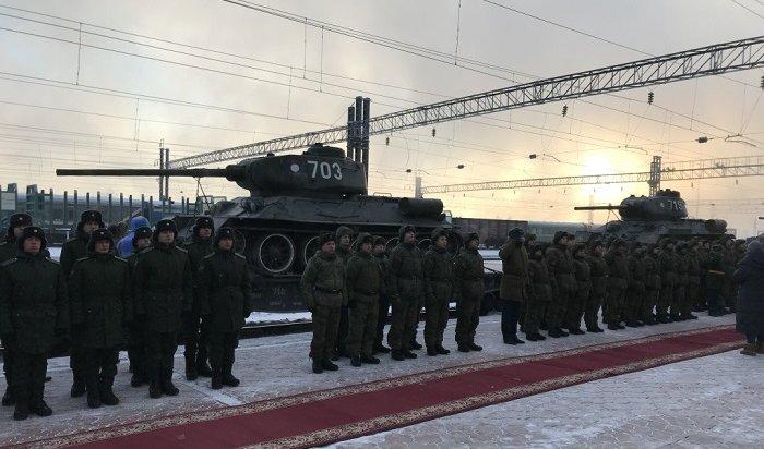 ВИркутске встретили танки Великой Победы