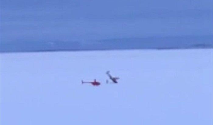 Легкомоторный самолет упал налед Братского водохранилища (Видео)