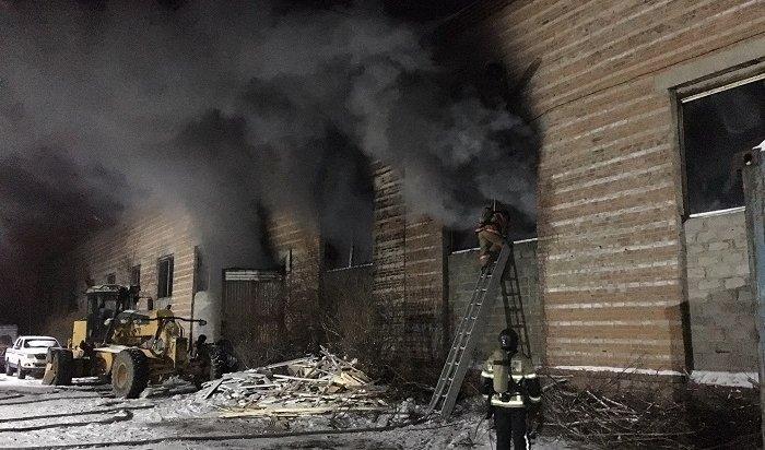 ВИркутске спасли работника склада вовремя пожара