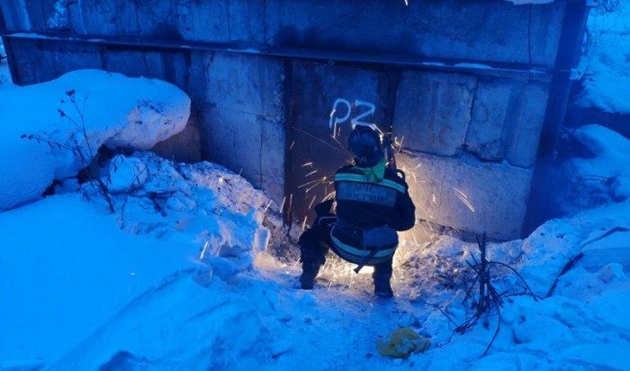 ВУсть-Куте вызволили узника теплоколлектора