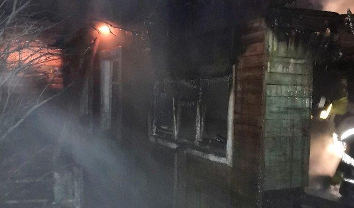 Женщина погибла вовремя пожара вдоме наулице Вилюйской вИркутске