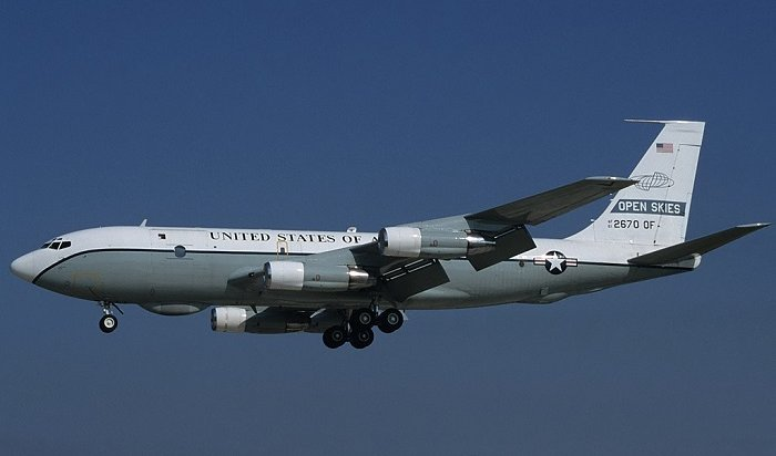 Военный самолет США пролетел над Забайкальем