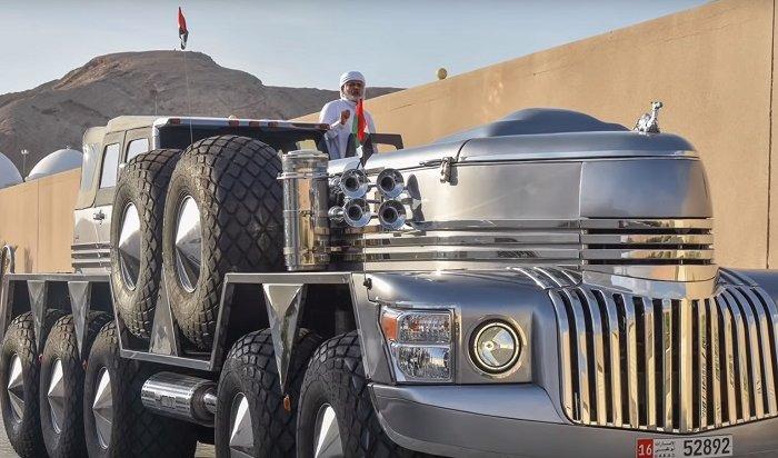 Арабскому шейху сконструировали гигантский внедорожник (Видео)
