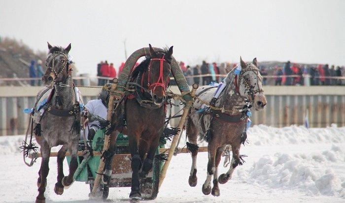 ВИркутске состоялись забеги русских троек напризы мэра города