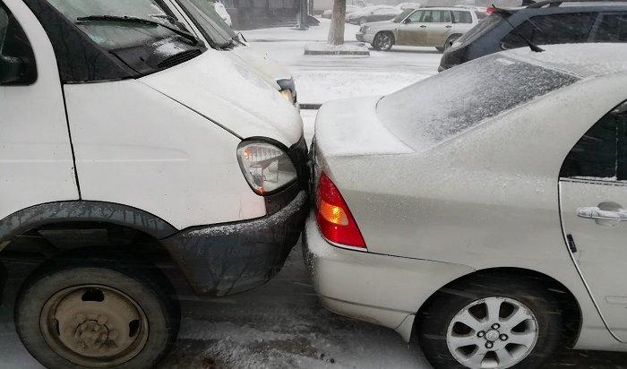 На дорогах Иркутска сложилась аварийная ситуация (Видео)
