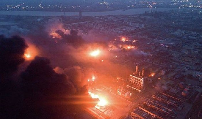 При взрыве нахимзаводе вКитае погибли 64человека