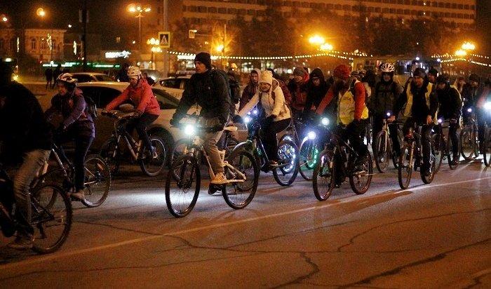 ВИркутске прошел всероссийский велосипедный флешмоб «Велосветлячки 2019» (Фото+Видео)