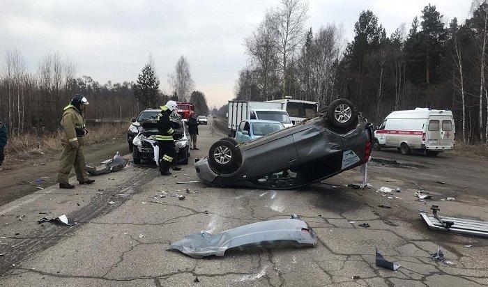 Массовое ДТП повине пьяного водителя произошло вАнгарске