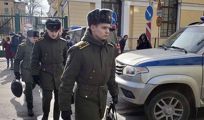 Взрыв в петербургской военной академии попал на видео