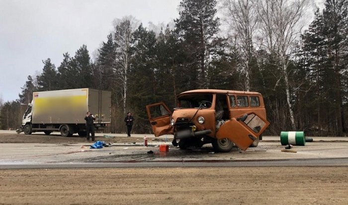 Водитель ипассажир автомобиля УАЗ погибли ваварии под Ангарском (Видео)