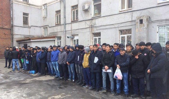 ВИркутске проверили мигрантов врайоне центрального рынка (Видео)