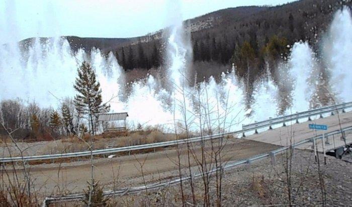Взрывные работы проводят напритоках реки Лены вЖигаловском иКачугском районах