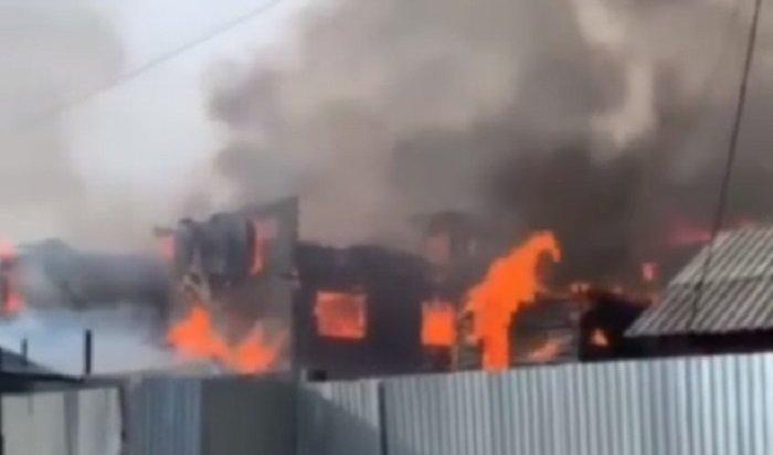 Причиной пожара вПарфеновке стала аварийная работа участка электросети (Видео)