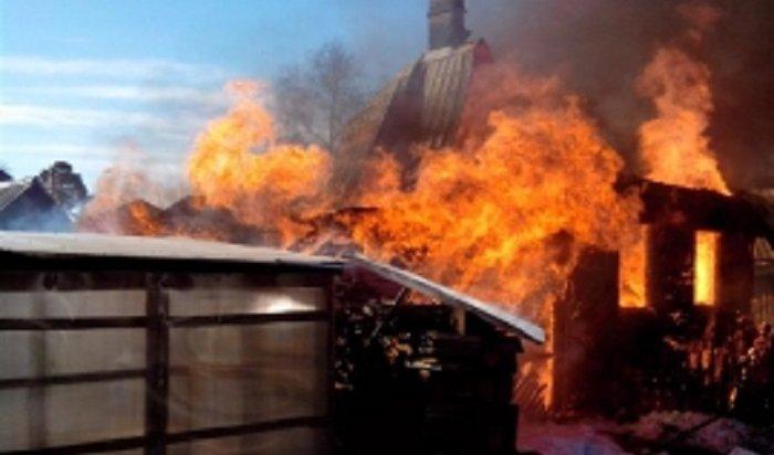 Два дома сгорели вселе Олха 1мая (Видео)