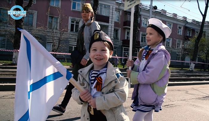 Около 20тысяч человек приняли участие впраздничном шествии 9мая вИркутске