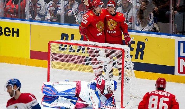 Сборная России обыграла Чехию начемпионате мира похоккею