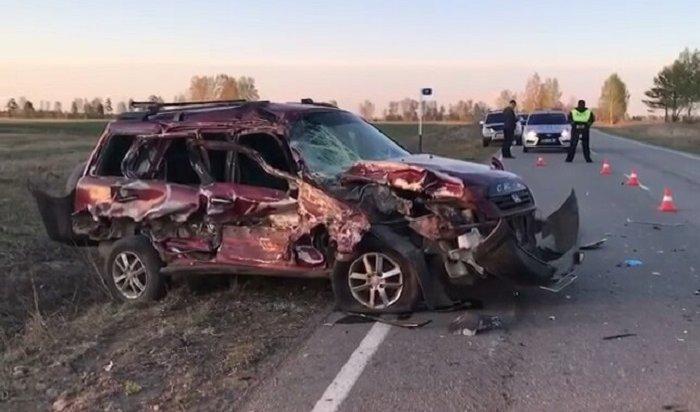 56-летняя водитель автомобиля Honda CRV погибла на дороге Ангарск-Тальяны