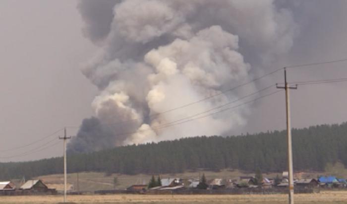 Пожар вблизи Большого Голоустного начался из-за непотушенного костра (Видео)