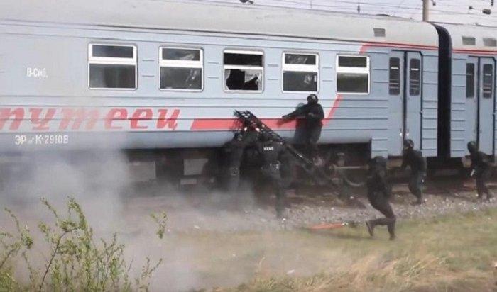 Крупные антитеррористические учения прошли вшелеховской электричке (Видео)