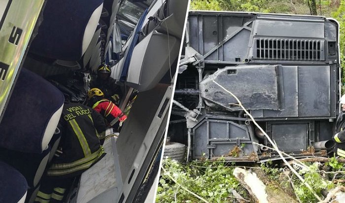 40-летняя россиянка погибла при опрокидывании туристического автобуса вИталии