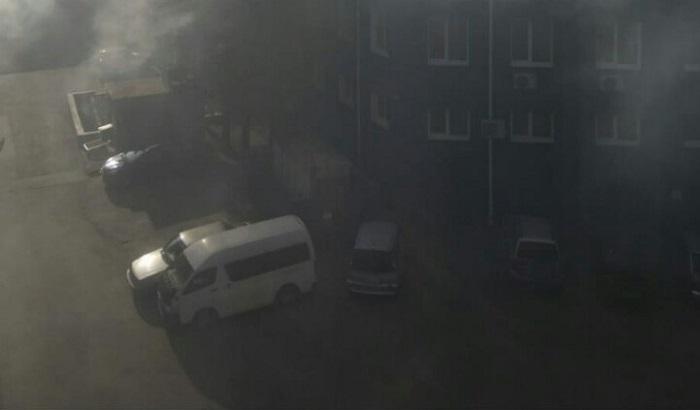 ВИркутске произошел крупный пожар вТЦ«Торгсервис»