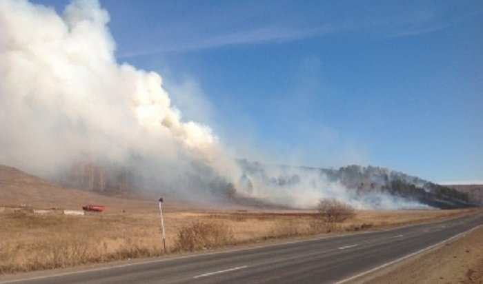 Четыре лесных пожара действуют рядом снаселенными пунктами вИркутской области