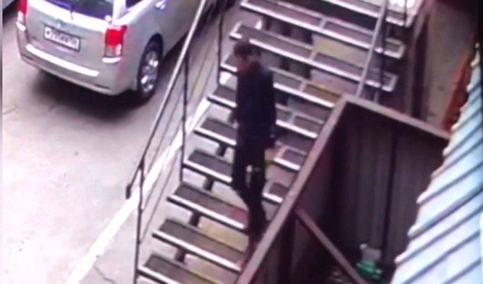 Грабитель иркутской студентки попал на видео