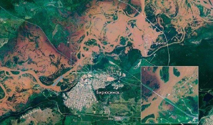 Фото паводка вИркутской области опубликовал Роскосмос