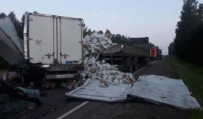 Водитель грузовика погиб вжестком ДТП вНижнеудинском районе (Фото+Видео)