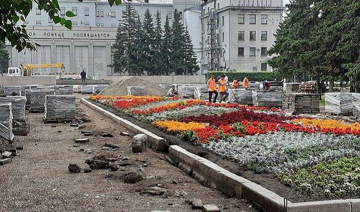 ВИркутске благоустраивают мемориал «Вечный огонь» (Фото+Видео)