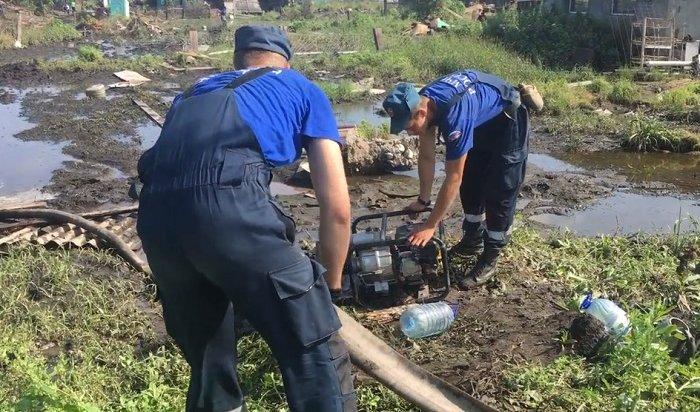 В9районах Иркутской области идут восстановительные работы после паводка
