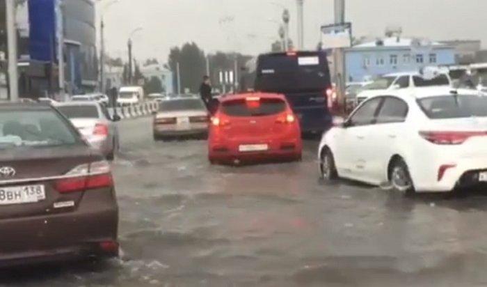 Иркутск  утром 4 августа «поплыл» из-за дождя