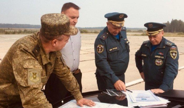 Замминистра МЧС России совершил облет Иркутской области, объятой пожарами
