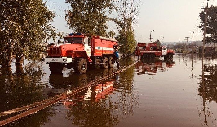 Воду продолжают откачивать взатопленных населенных пунктах Иркутской области