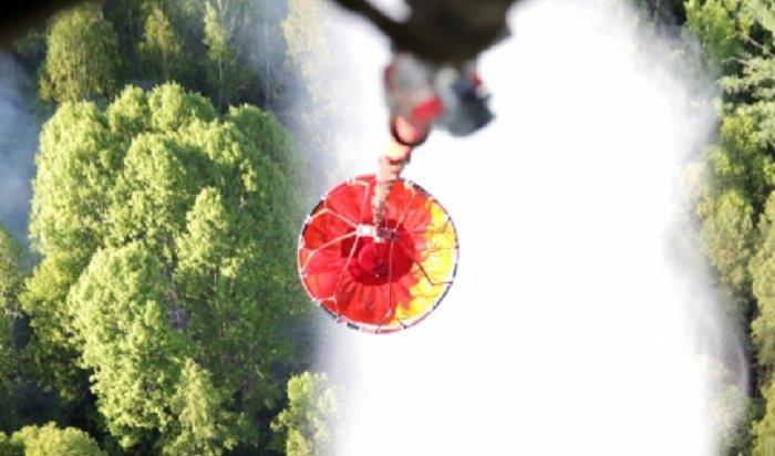 Лесные пожары продолжают тушить вИркутской области (Видео)