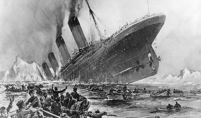 Видео разрушающегося надне Атлантики «Титаника» опубликовали вСети