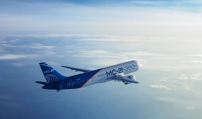 Видео покраски самолета МС-21-300, собранного вИркутске, обнародовали вСети