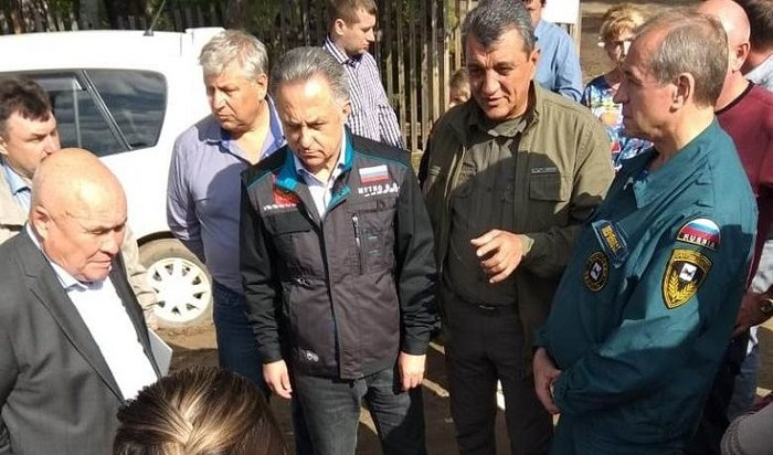 Мутко посетил Нижнеудинский иЧунский районы, пострадавшие откатастрофического наводнения