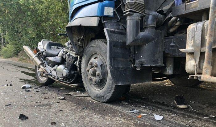Мотоциклиста сбили насмерть вИркутске